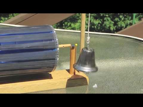 Solar Powered Toy Bell Ringer- solar motor - no electric = Homemade Science with Bruce Yeany