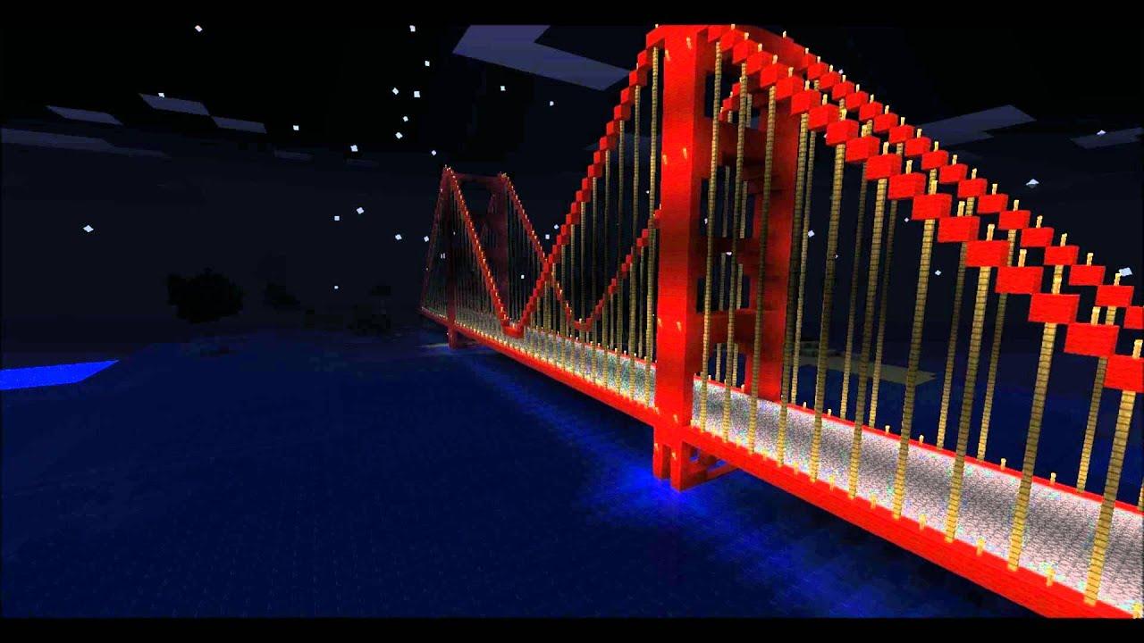 Golden Gate Bridge San Fransisco Minecraft YouTube