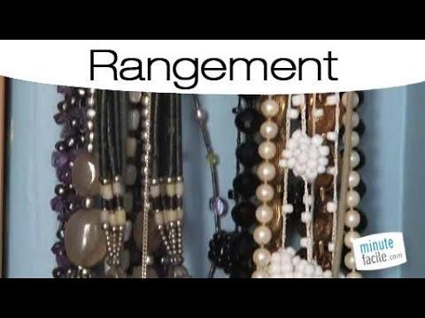 id es pour bien ranger ses colliers et bijoux youtube. Black Bedroom Furniture Sets. Home Design Ideas