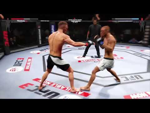Conor McGregor takes down Jose Aldo