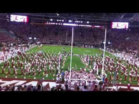 Alabama Entrance vs Ole Miss 2012 Night Game at Bryant–Denny Stadium. SEC
