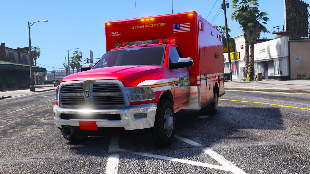 Ram 3500 Ambulance - GTA 5 Ambulance Mod