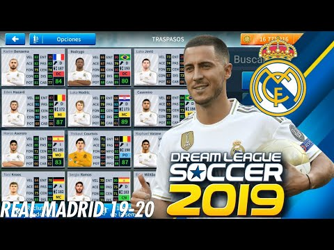 PLANTILLA DEL REAL MADRID 2019/2020 CON NUEVOS FICHAJES Y KITS PARA DREAM LEAGUE SOCCER 2019
