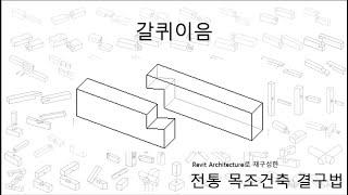 16)갈퀴이음_Revit으로 재구성한 한옥 결구법
