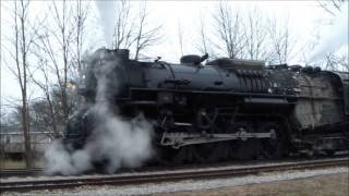 The Real Polar Express 1225 arriving in Ashley,Michigan 2013