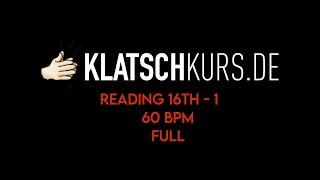 Reading 16th 1, 60bpm, Full - Klatschkurs - Rhythm Reading - by Kristof Hinz