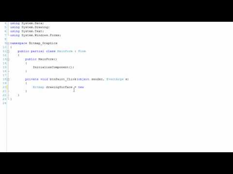 Bitmap Graphics Sample (C# Development)