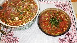 Суп томатный летний \ Холодные супы \ Летние супы\Суп з помідор\ Рецепт диетического блюда.