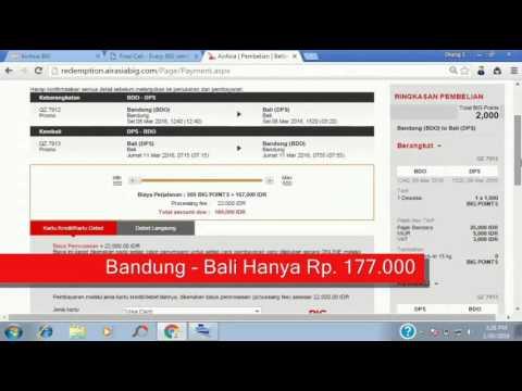 Cara Booking Tiket AirAsia dengan BIG Point