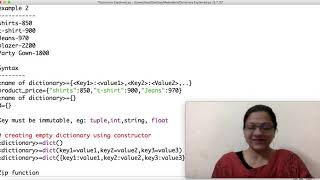 Class 11 IP(065) Dictionary in Python Part-3 by Meenakshi Mam