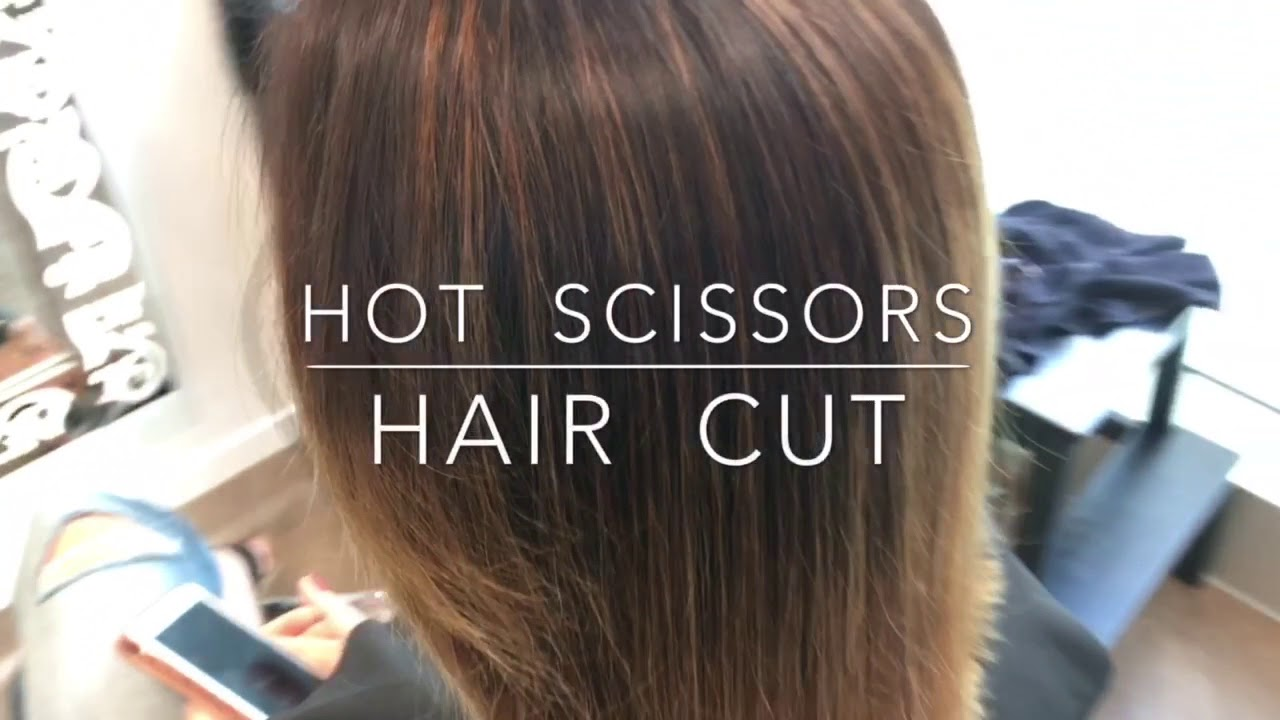 Haircut with hot scissors - treatment of depleted hair
