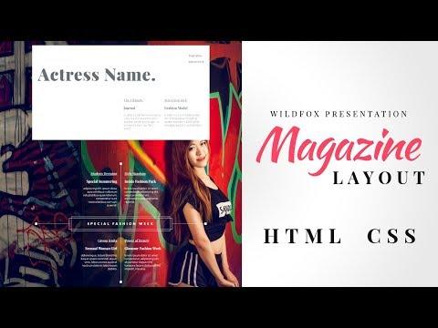 Magazine Layout Design | Html CSS | Responsive Magazine