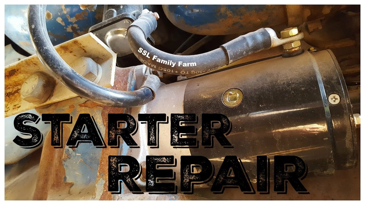 small resolution of 1969 ford 4000 3000 tractor starter repair