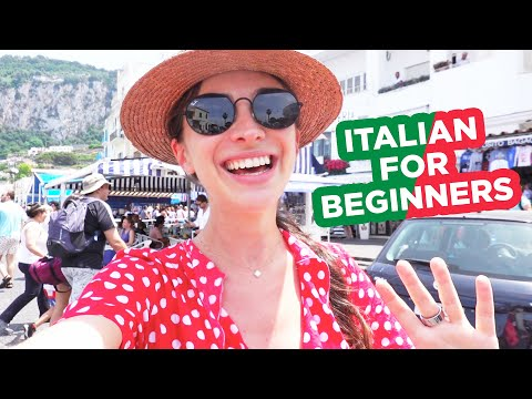 Vacation in Italy. Learn 36 basic Italian words and phrases