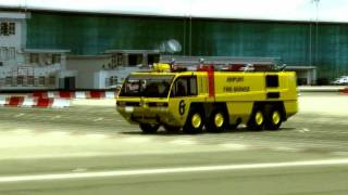 Boeing 777 Continental Emergency Landing@ Gibraltar {{ ENGINE FIRE }}