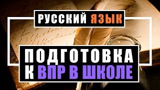 Системная подготовка младших школьников к ВПР в курсе русского языка