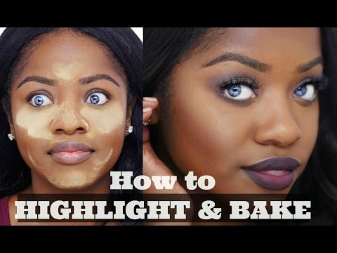 How to HIGHLIGHT and BAKE Your Face on Dark Skin