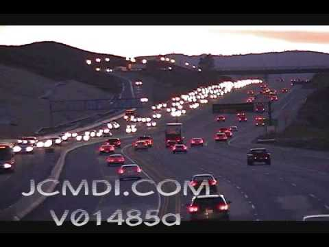 Time lapse traffic Antelope Valley freeway 14 V01485a