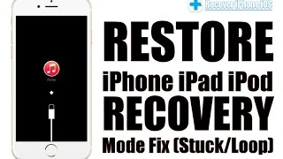 Fix iOS Stuck On Recovery Mode iOS 10 , Get iPhone iPad iPod Out Of Recovery Mode