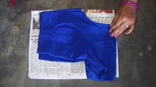 Blouse Paper Cutting in Tamil | Simple blouse paper Cutting for Beginners