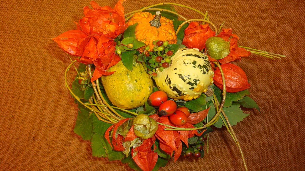 Herbstdeko basteln mit naturmaterialien blumenstrau mit for Herbstdekoration 2016