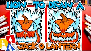 How To Draw A Scary Jack-O-Lantern