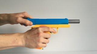 toy gun realistic 1 1 scale colt 1911 rubber bullet handgun review