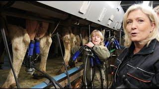 Marine Le Pen auprès des agriculteurs normands