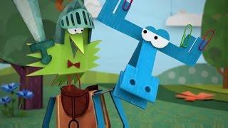 Бумажки - Рыцарь Тюк - Серия 71 - Мультик оригами для детей.