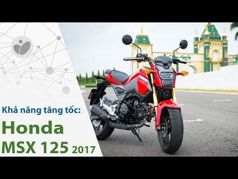 Honda MSX 125 2017 tăng tốc 0-60 km/h trong 4,41 giây; 0-100 km/h trong 14,48 giây