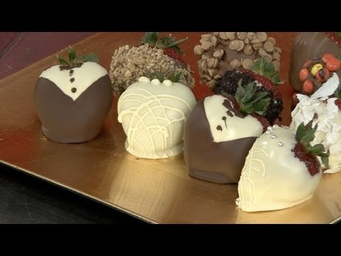 How To Make Wedding Themed Chocolate Strawberries  YouTube