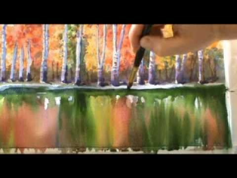 Watercolours Autumn Reflections Youtube
