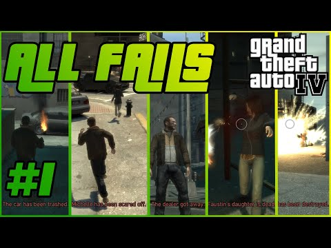 ALL FAIL Calls and cutscenes in GTA IV story line – PART 1
