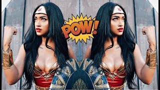 Black Wonder Woman Halloween Makeup Tutorial (Bri Hall)