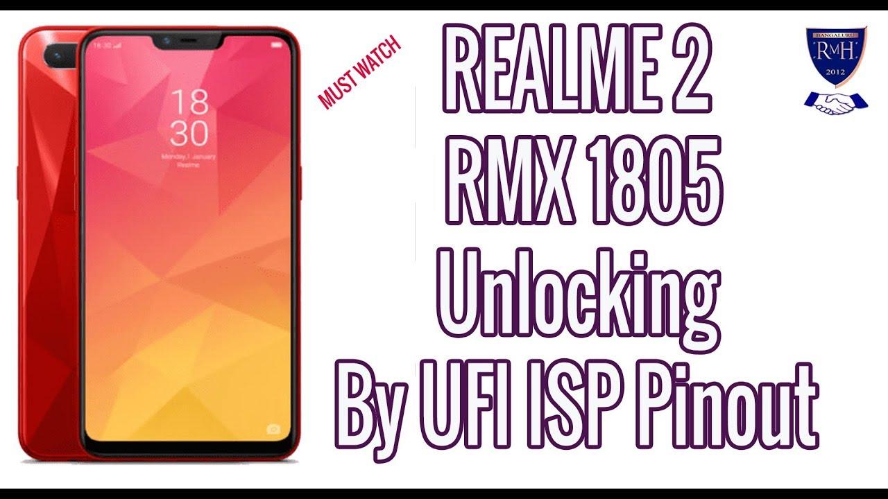 REALME 2 RMX 1805 Unlocking By UFI ISP Pinout