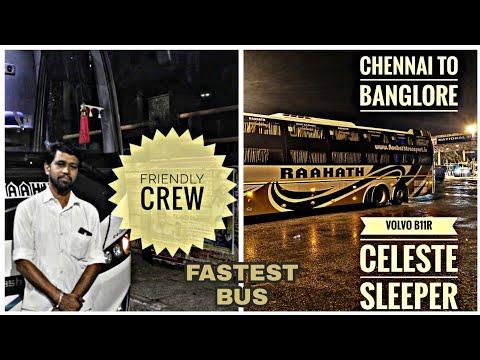 RAAHATH TRAVELS-VOLVO CELESTE - 2+1 AC SLEEPER-CHENNAI TO BANGLORE - TAMIL VLOG- BUS REVIEW