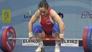 2013 European Weightlifting Championships, Women 58 kg \ Тяжелая Атлетика. Чемпионат Европы