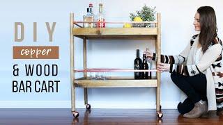 DIY Bar Cart | How To Make A Drink Cart
