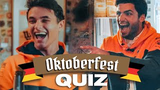 Carlos Sainz and Lando Norris play Estrella Galicia 0,0's Oktoberfest Quiz