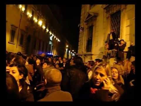 Silvio Berlusconi Resigns at Quirinale