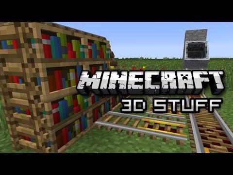 Minecraft Vanilla D Rails Bookshelves And Ladders - Bookshelves minecraft