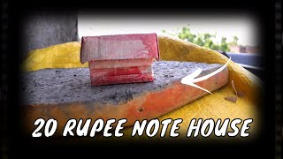 How to make a House   How to fold note into Home