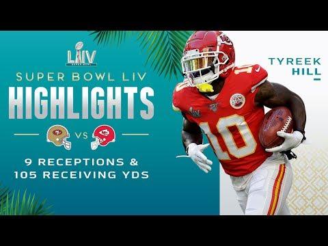 Every Tyreek Hill Reception vs. 49ers | Super Bowl LIV Highlights