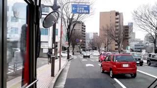 北鉄金沢バス Hokutetsu Kanazawa Bus 82系統 No.82 西金沢駅→金沢駅→柳橋 From Nishi-kanazawa sta. to Yanagibashi