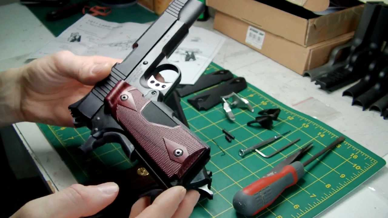 LaZouche Custom airsoft Hurricane Crimson Trace laser grip review