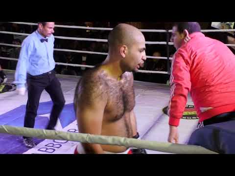 Ahmed Aly: red trunks vs Wagdy Attia: black trunk