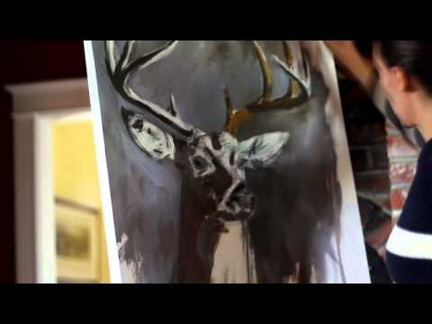 White Tailed Deer - Sped up Painting