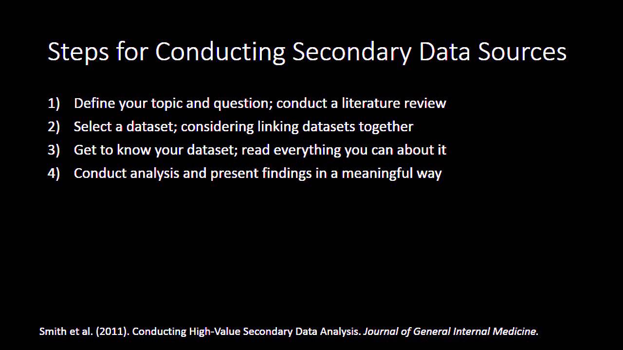dissertation using secondary data A correlation study of gender-based within the us construction industry using archived survey data gathered in support throughout the dissertation.