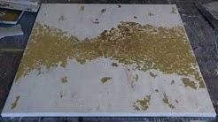 Abstraktes Acrylbild/ Golden Dream/Gold Leaf / Acrylics /Demonstration by Victoria FineArt