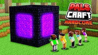 WE MADE A NETHER CUBE PORTAL! (Minecraft PalsCraft 3)